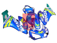 Aftermarket MoviStar ABS Fairing Set 19pc - Honda CBR1000RR 2004-2005***No Honda Logos***