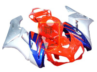 Aftermarket Orange/Silver/Blue ABS Fairing Set 19pc - Honda CBR1000RRR 2004-2005***No Honda Logos***