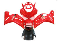 Red ABS Fairing Set 7pc - Kawasaki ZX6R 2003-2004