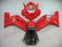 Red Fairing Set 16pc - Kawasaki ZX6R 2003-2004