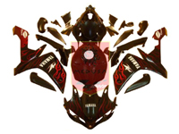 Red Flame ABS Fairing Set 26pc - Yamaha YZF-R1 2007-2008