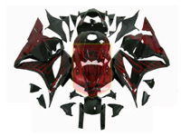 Aftermarket Red Flame ABS Fairing Set 25pc - Honda CBR600RR 2009-2012***No Honda Logos***