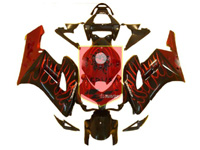 Aftermarket Red Flame ABS Fairing Set 19pc - Honda CBR1000RR 2004-2005***No Honda Logos***