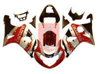 Red/Silver ABS Fairing Set 9pc - Suzuki GSXR1000 2000-2002