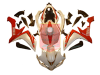 Red/White ABS Fairing Set 26pc - Yamaha YZF-R1 2007-2008