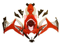 Red/White/Black ABS Fairing Set 23pc - Suzuki GSXR600/750 2006-2007