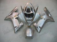 Silver Fairing Set 16pc - Kawasaki ZX6R 2003-2004