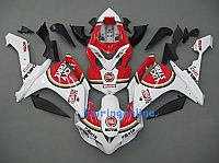 White/Red Lucky Strike ABS Fairing Set - Yamaha R1 2007-2008