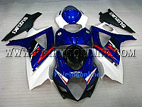 Suzuki GSXR 1000 2007-2008 ABS Fairing Set - Blue/White