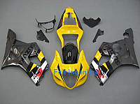Suzuki GSXR 1000 2003-2004 ABS Fairing Set - Yellow/Gray
