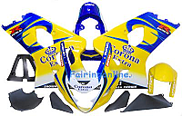 Yellow/Blue Corona ABS Fairing Set 13pc - Suzuki GSXR 600/750 2004-2005 