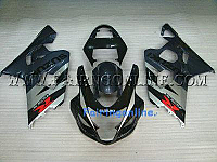 Black/Blue ABS Fairing Set 13pc - Suzuki GSXR 600/750 2004-2005