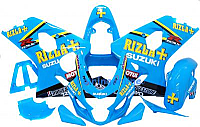 Blue Rizla ABS Fairing Set 13pc - Suzuki GSXR 600/750 2004-2005
