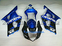 Suzuki GSXR 1000 2003-2004 ABS Fairing Set - Blue/Black