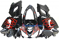 KAWASAKI NINJA ZX6R 05-06 ABS Fairing Red/Black