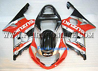 Suzuki GSXR 1000 2000-2002 ABS Fairing Set - Red/Black Type 2