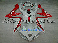 Red/White Type 1 ABS Fairing Set - Yamaha R1 2007-2008