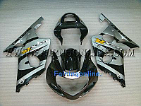 Suzuki GSXR 1000 2000-2002 ABS Fairing Set - Black/Gray