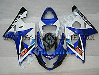 Blue/Black ABS Fairing Set 13pc - Suzuki GSXR 600/750 2004-2005