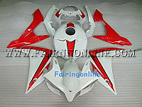 Red/White Type 2 ABS Fairing Set - Yamaha R1 2007-2008