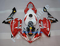 Red/Black/White ABS Fairing Set - Yamaha R1 2007-2008