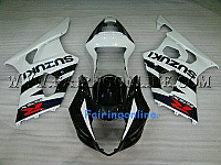 Suzuki GSXR 1000 2003-2004 ABS Fairing Set - Black/White