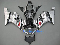 Silver/Black ABS Fairing Set 11pc - Suzuki GSXR 600/750 2001-2003