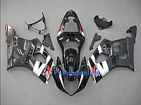 Suzuki GSXR 1000 2003-2004 ABS Fairing Set - Black/Gray