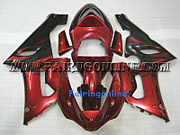 KAWASAKI NINJA ZX6R 05-06 ABS Fairing Red