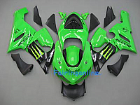 KAWASAKI NINJA ZX6R 05-06 ABS Fairing Green/black