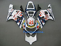 Suzuki GSXR 1000 2000-2002 ABS Fairing Set - White/Red/Blue