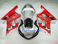 Red/Silver ABS Fairing Set 11pc - Suzuki GSXR 600/750 2001-2003