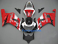 Red/Black/Silver ABS Fairing Set 11pc - Suzuki GSXR 600/750 2001-2003