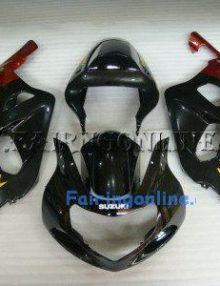 Black/Red ABS Fairing Set 11pc - Suzuki GSXR 600/750 2001-2003