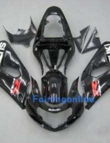 Black ABS Fairing Set 11pc - Suzuki GSXR 600/750 2001-2003