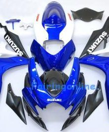 Blue/Black/White ABS Fairing Set 23pc - Suzuki GSXR 600/750 2006-2007