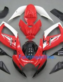 Red/Black/White ABS Fairing Set 23pc - Suzuki GSXR 600/750 2006-2007