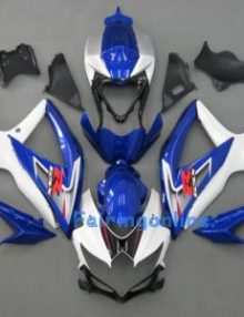 Green/White/Black ABS Fairing Set 25pc - Suzuki GSXR 600/750 2008-2009