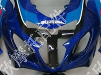 ZXMT Black/Blue/White ABS Fairing Set 10pc - Suzuki GSXR 600/750 2004-2005