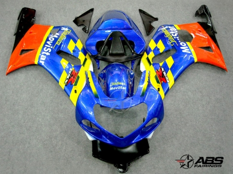 ABS Fairings Movistar Series 9pc Fairing Set - Suzuki GSXR 600/750 2000-2003