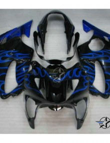 ABS Fairings Blue Flames 12pc Fairing Set - Honda CBR600 F4 1999-2000