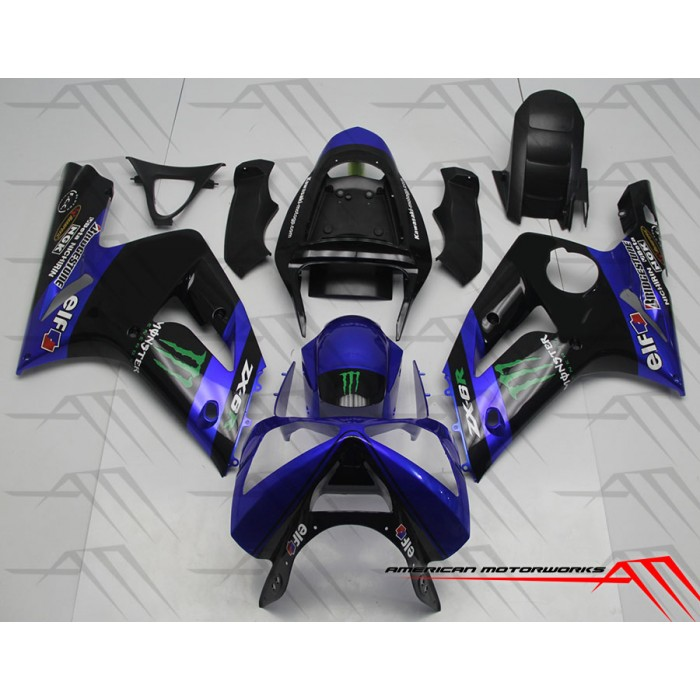 American Motorworks Bblue And Black Monster Energy 03-04 ZX-6R