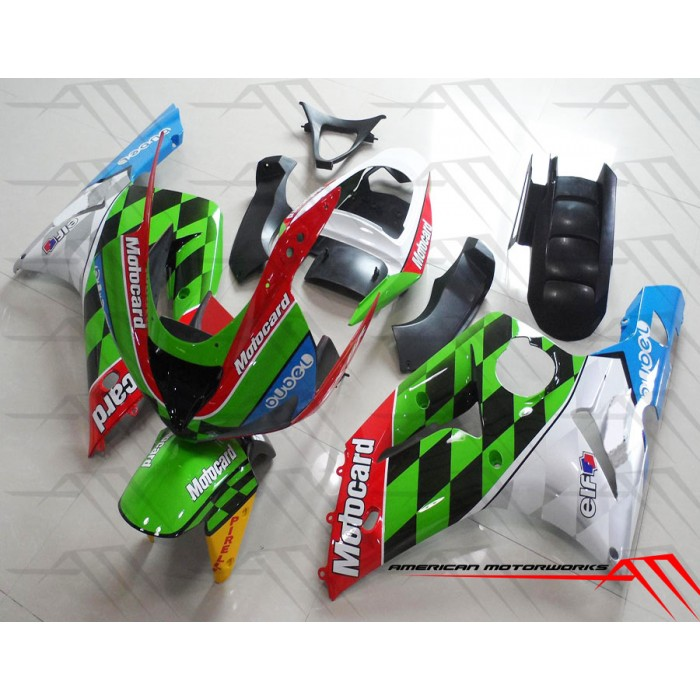 American Motorworks Multi-Colored Motocard 03-04 ZX-6R