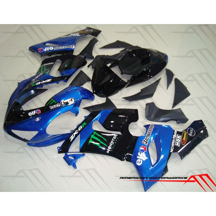 American Motorworks Blue Monster Energy 05-06 ZX-6R
