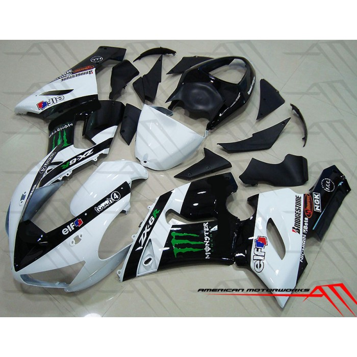 American Motorworks White Monster Energy 05-06 ZX-6R