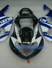Suzuki GSXR 1000 2000-2002 ABS Fairing Set - Blue/White Type 2