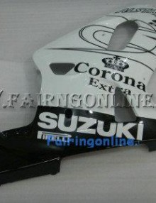 Suzuki GSXR 1000 2000-2002 ABS Fairing Set - Corona White/Black