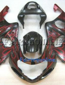 Suzuki GSXR 1000 2000-2002 ABS Fairing Set - Red/Black