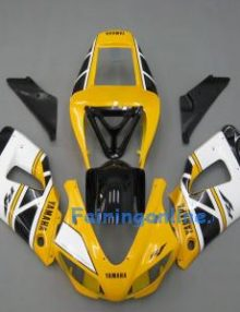 Yellow/White ABS Fairing Set 13pc - Yamaha R1 1998-1999