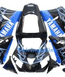 Black/Blue ABS Fairing Set 13pc - Yamaha R1 2000-2001